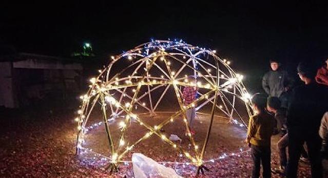 湯来西公民館 スタードーム作り&宵待ちコンサート