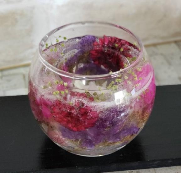 利松公民館 花のジェルキャンドル作り